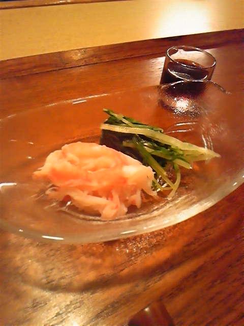 ずわい蟹と水菜のおひたし