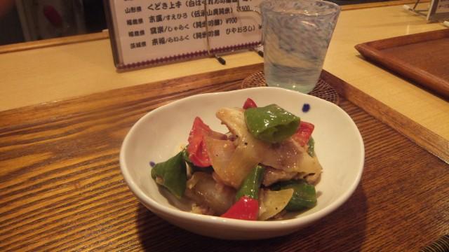 万願寺とうがらしと豚肉の味噌炒め