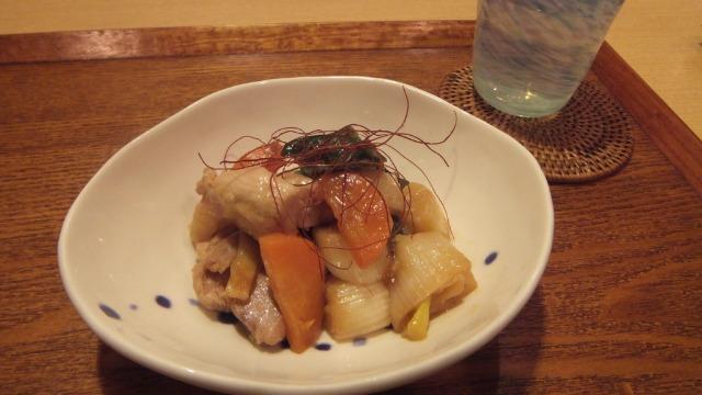 下仁田ネギと鶏肉の煮物