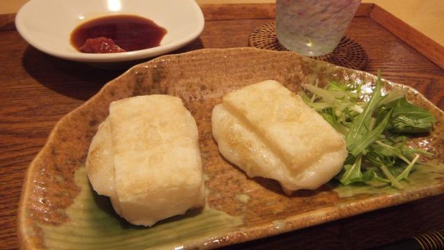 ゴマ油焼き餅(<br />  豆板醤醤油)