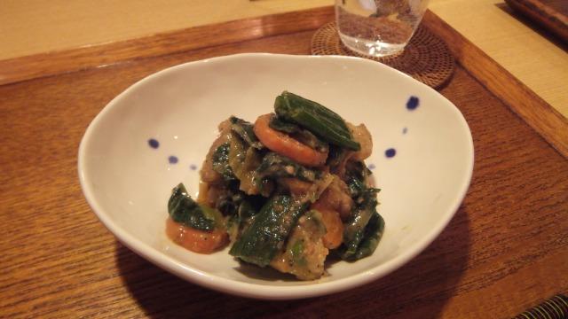 葉玉ねぎと鶏肉の特製かもしタレ炒め