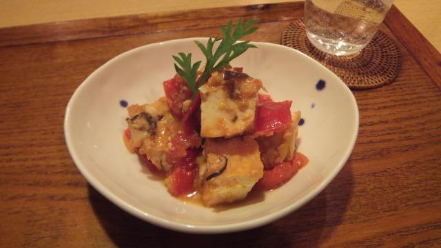 トマトと厚揚げの味噌煮