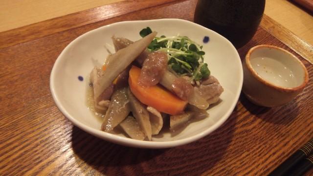 鶏肉とごぼうの梅煮