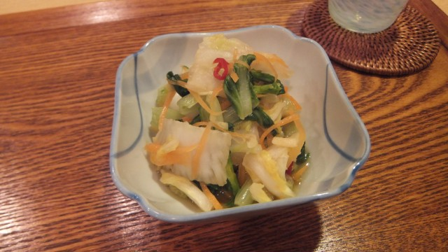 白菜と山東菜の甘酢漬け